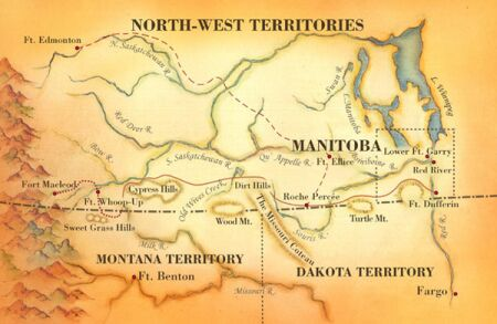 Map of the Famous 1874 March West