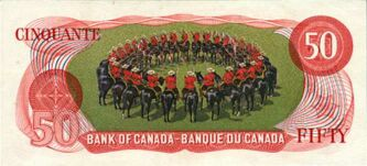 RCMP Musical Ride on $50 bill